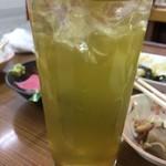 70872023 - いつものようにファーストドリンクから緑茶ハイ!350円。