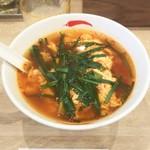 辛麺屋一輪 - 辛麺ニラ増しトッピング