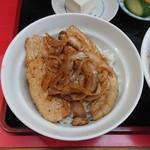 春華食堂 - 焼肉丼(焼肉丼・半ラーメン)