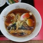 春華食堂 - 半ラーメン(焼肉丼・半ラーメン)