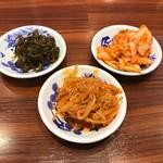 ふくちぁんラーメン - 惣菜バーのつまみもの ※キムチ、もやしキムチ、高菜