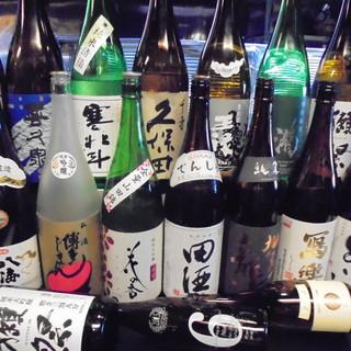 日本酒・焼酎は店主こだわりのラインナップで品揃え豊富!