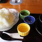 茶寮 八翠 - 塩ミルク氷