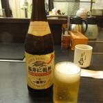 そば処 福そば - 瓶ビール(中瓶) 540円 (2017.7)
