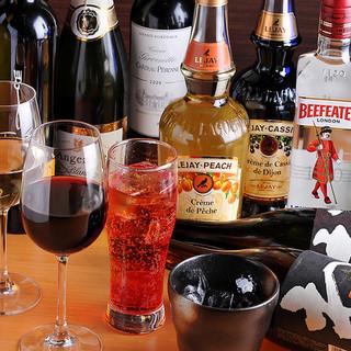 数多くのお酒もご用意しております!