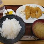 長野屋食堂 - イカフライ定食¥820-