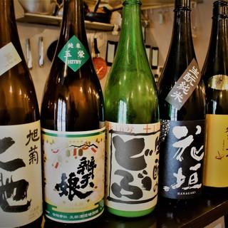 豊富な日本酒を取り揃えております!