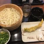 丸亀製麺 - 釜揚げ並&ジャンボオクラ天