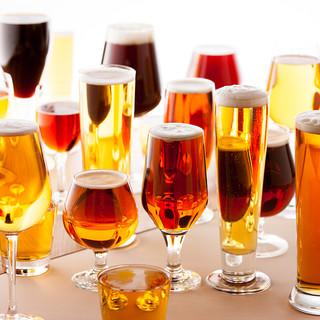 ワイン10種とクラフトビール15種