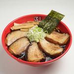 富山ブラック 麺家いろは - 銘柄豚「アボカドポーク」を使用した王様チャーシュー麺