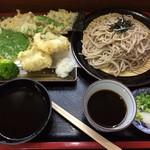 sobadokorokinugasa - 2017.7.10  鱧天ざる蕎麦