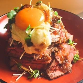【ランチお勧め】ローストビーフ丼880円(税抜)