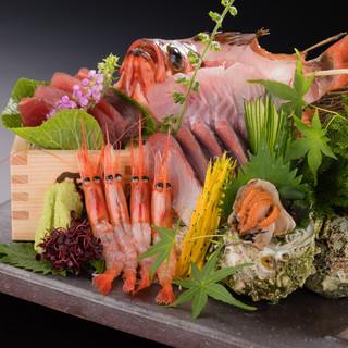 阿賀野市安田瓦の鮮魚盛り