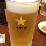 たんびに亭 - ビールはサッポロ