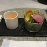 70889714 - ランチのスープ&サラダ