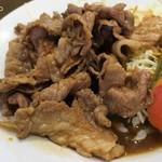 中国料理 蘭州 - 生姜焼きは豚小間肉薄切り