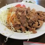 中国料理 蘭州 - 生姜焼きの千切りキャベツはワイルドな盛り方