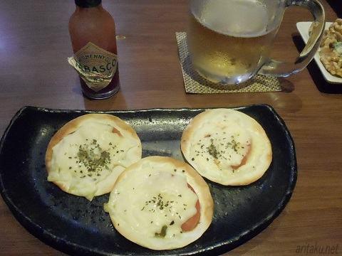 立呑み さいごう - ひとくちピザ300円