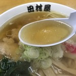 田村屋 - スープが透明だ