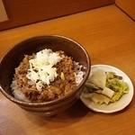 chuukasobauemachi - 黒豚味噌ごはん