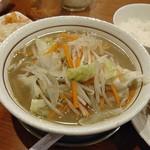 ベジ麺処 鶻 - 『タンカラセット(¥900)』のタンメン(あっさり)