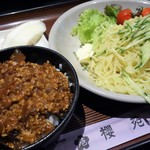 櫻苑 - 肉みそ飯(小盛)+冷麺