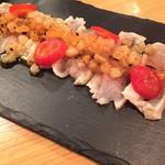 ダイニングバル うちわ - ■鶏胸肉の炙り 焼き大根のヴィネグレットソースで!
