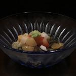 かさね - 小柱 秋田蓴菜 山芋 山葵