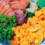 寿司のまつくら - うに・えび丼3000円税込