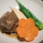 藤吉 - 2017.7 牛肉と野菜の炊き合わせ