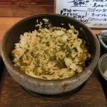 盛り飯 - 石焼きたかな明太めし ・しっかり盛り付けてあるものを混ぜた後