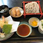 そばの華 - 料理写真:ミニ天ザル定食=850円