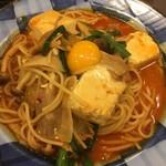 70902647 - 豚肉と豆腐のチゲ風パスタ890円