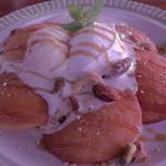 SUNCAFE - キャラメルナッツソースのパンケーキ(980円)