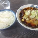 西町大喜 - 中華そば小(750円)+ライス(160円)