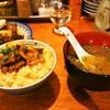 煮こみ - 料理写真:牛煮こみオンザTKG & 牛スープ