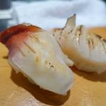 札幌シーフーズ - 北寄貝とホタテガイ 炙りです