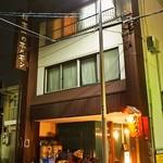 煮こみ - 「日本一のホルモン」と書かれた看板が素敵