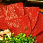 煮こみ - 刺身盛②(ハツ刺)