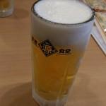 築地食堂 源ちゃん - 築地食堂 源ちゃん 「ちょい呑みセット」1000円のビール