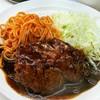 ボーイズカレー - 料理写真:カレー付きハンバーグ