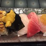 70911665 - 穴子,ウニ,鯛,中トロ,ハマチ