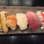 70911673 - 松茸,赤貝,ホタテ,中トロ,ハモ