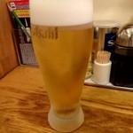 中国ラーメン 揚州商人 - グラスビール