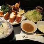 とんかつ マンジェ - 超特大エビフライ定食