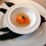 レストラン ルスティク - アミューズ・赤ピーマンのババロア