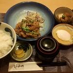 しののめ - 日替り定食 豚のしょうが焼き ¥650