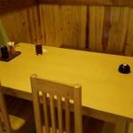 しののめ - テーブル