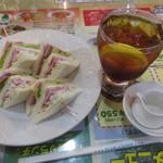 喫茶ツヅキ - モーニング Bセット 550円(税込590円) (2017.7)