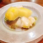たつみ - マコガレイと冬瓜のカルパッチョ